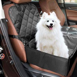 Hunde Autositz, Wasserdicht Auto Hundedecke Kofferraumschutz, Wasserdicht Abriebfest Rücksitz Schützt Ihr Auto vor Schmutz, für Kleine Mittlere Hunde Schwarz