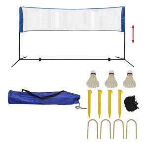 vidaXL Badmintonnetz-Set mit Federbällen 300 x 155 cm