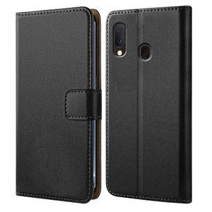 Handytasche für Samsung Galaxy A20e Schutz Hülle mit Aufstellfunktion Handyhülle  Klapp Tasche Etui mit Kartenfächer Flip Cover TPU innen Schale