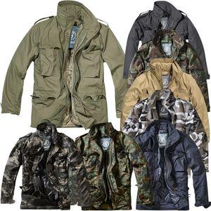 Brandit - M65 Standard Feldjacke Schwarz Oversize Übergröße Parka US Style Jacke mit Futter Größe 6XL