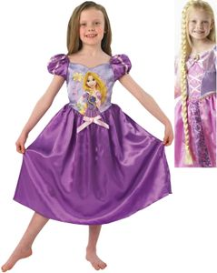 Rapunzel Storytime mit Zopf Prinzessin Kinder Karneval Fasching Kostüm 104