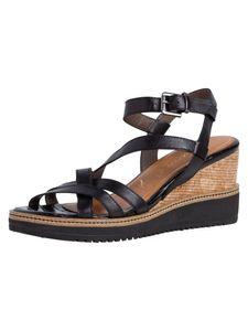 Tamaris Damen Sandalette schwarz 1-1-28349-24 weit Größe: 38 EU