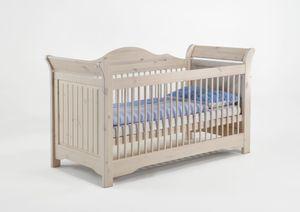 Steens - Lotta Babybett - Material: Kiefer - Verarbeitung: White-Wash