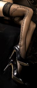 halterlose struempfe Ballerina 286 schwarz Stockings Damenstruempfe , Größe:L/XL - (40/42)