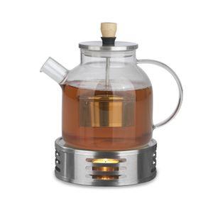 BEEM Teekanne 1L Stövchen Set Teewärmer Teebereiter Glaskanne Edelstahl