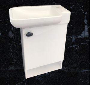 Badmöbel für Gäste Wc Kleine Bäder Unterschrank mit keramik Waschbecken  53x33 Badezimmer Möbel Kreabad