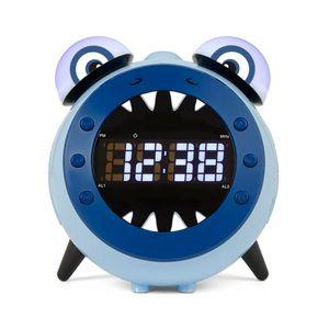 Nikkei Kinder Projektionsuhr mit UKW-Radio NR280PSHARK Blau