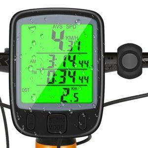 Kilometerz?hler Fahrrad Computer Fahrrad Tachometer Tragbares LCD Schwarz Universal Rider Wasserdicht