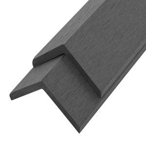 vidaXL Terrassen-Winkelleisten 5 Stk. WPC 170 cm Grau
