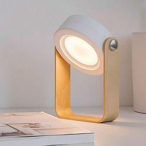 Tragbare LED-Faltlaterne, USB-Aufladung, dimmbare Leuchttischlampe, Weiß