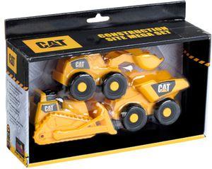 CAT Baustellen Mega Set 3teilig mit Kipper + Raupe + Radlader 3236