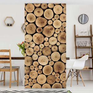 Raumteiler - Homey Firewood 250x120cm, Aufhängung:ohne Halterung