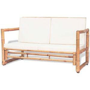 vidaXL 2-Sitzer Gartensofa mit Polstern Bambus