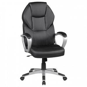 Amstyle Bürostuhl DETROIT Schwarz Kunstleder Schreibtischstuhl X-XL Chefsessel 120KG Drehstuhl mit Armlehne Drehstuhl