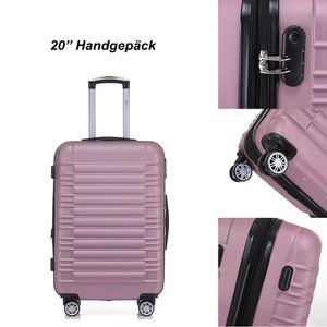 Reisekoffer Hartschalenkoffer ABS Hartschalenkoffer Trolley M Pink Reisekoffer Boardcase 4 Trolley
