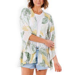 Rip Curl Damen Cardigan COASTAL PALMS KIMONO, Größe:S, Farben:white