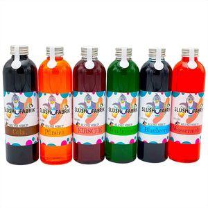 Sirup Partyset 6 x 250ml für Slush, Getränke   Slushy Eis selber machen   Slushmaschine Konzentrat 1:5, Keine Zugabe von Zucker notwendig