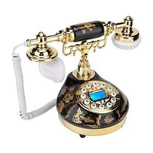 Mllaid Schnurgebundenes Telefon, Retro-Stil Vintage-Multifunktions-Plastik-Telefon Desktop Festnetztelefon Festnetztelefon für Zuhause Hotel
