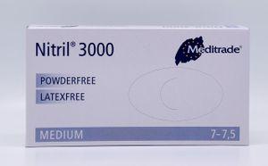 Meditrade Nitril 3000, Einweghandschuh, weiß, puderfrei, VE 100 Stück - Größe M
