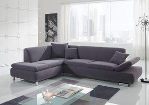 Max Winzer Terrence Ecksofa links mit Sofa 2,5-Sitzer rechts - Farbe: grau - Maße: 270 cm x 190 cm x 76 cm; 2920-264-1643716-MET