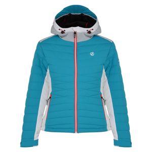 dare2b Damen Skisport Ski-Jacke Skijacke Simpatico JACKET gesteppt blau weiss, Größe:44