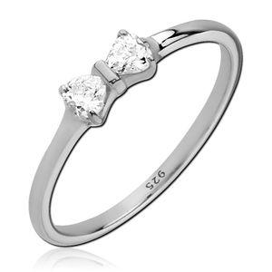 viva-adorno Gr. 60 (19,1 mm Ø) Damen Ring Fingerring Verlobungsring 925 Sterlingsilber Kristall Schleife Zirkonia SR39,