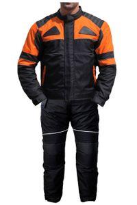 German Wear 2-teiler Motorradkombi Cordura Textilien Motorradjacke + Motorradhose, Größe:48/S