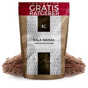 Kala Namak Gourmet Salz 200g | Schwefelsalz fein aus Indien | Naturbelassenes Schwarzsalz Steinsalz ohne Jod Zusatz | Gesundes unbehandeltes Natursalz