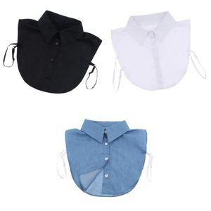 3pcs Baumwolle  Kragen Abnehmbare Dickey Kragen Bluse Half Shirts Kragen