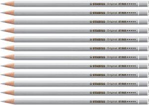 Premium-Buntstift - STABILO Original - 12er Pack - silber