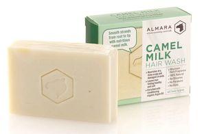 Almara Kamelmilchseife Haarseife natürliche Pflege mit Kamelmilch Bio Olivenöl Palmölfrei 120 g