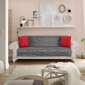 Melody Sofaüberwurf / Couchüberwurf Anti-rutsch Tagesdecke Sesselschutz Möbelschutz Überwürfe Sofa Abdeckung Sofaschutz Couchüberzug Couchabdeckung grau Mod1