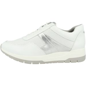 Tamaris Damen Low Sneaker 1-23793-26 Weiß 171 White/Silver Kunstleder mit Herausnehmbare Innensohle, Groesse:40 EU