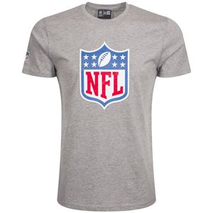 New Era - NFL Shield Logo T-Shirt - grey : M Größe: M