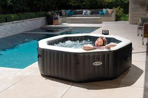 Intex Pool PureSPA 'Jet + Bubble Deluxe' octagon onyx black 150cm x 71 cm
