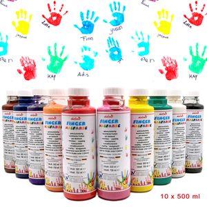 Fingermalfarbe 10er Set je 500 ml