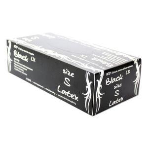 Maimed Black LX Latex Handschuhe schwarz puderfrei 100 Stück Gr. S