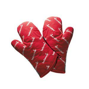Barbecook Paar Rote Kurze Grill Handschuhe Handschuhe ; 2230602000