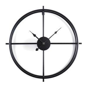 Wanduhr Retro Uhr 50cm Antik Moderne Zuhause Wohnzimmeruhr Schwarz DE