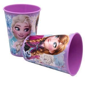 Frozen Die Eiskönigin Trinkbecher violett 4er-Set 230ml mit Anna Elsa Olaf