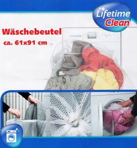 WÄSCHENETZ 61x91cm Weiss mit Zugkordel Wäschebeutel Wäschesack Wäsche Netz Beutel Sack 12