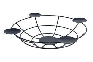 Adventskerzenhalter in schwarz mit 4 Tellern (170458380)