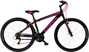 27,5 Zoll Mountainbike MTB Coppi Brave Lady 21 Gänge Schwarz Pink 38 cm Rahmengröße