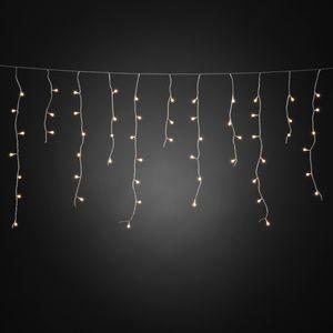 Konstsmide - LED Eisregen Lichtervorhang, mit weißen Globes, 400 warm weiße Dioden, 24V Außentrafo, transparentes Kabel ; 3673-103