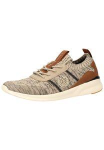 bugatti Herren Sneaker Sneaker Low Textil beige 45