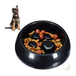 relaxdays 1 x Anti Schling Napf schwarz Futternapf Hundenapf Fressnapf langsames Fressen