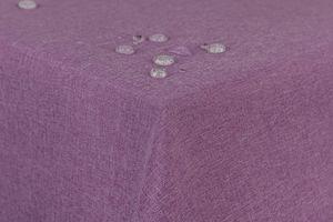 Tischdecke Leinenoptik Lotuseffekt abwaschbar mit gerader Saumkante 130x220 oval in lila