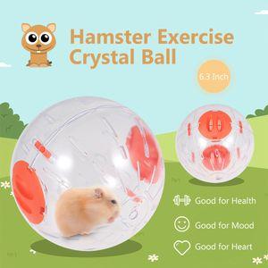 Hamster-Gymnastikball Hamster Crystal Ball 6,3 Zoll klar Hamster Running Ball[Orange]