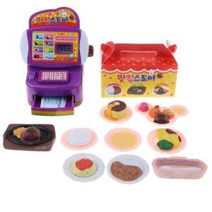 Lebensmittelladen Spielzeug Set für Kinder Lebensfähigkeit zum Lernen ( Plastik Kasse + Lebensmittel )