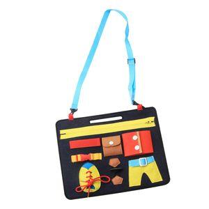 Pädagogisches Montessori Knopf / Schnalle / Reißverschluss / Spitze Grundlegendes Leben Fähigkeits Lernspielzeug